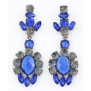 Shining Diva Non Plated Black Dangle Earrings For Women-CFJ6982er