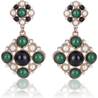 Shining Diva Non Plated Multi Dangle Earrings For Women-CFJ6967er