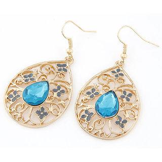 Shining Diva Non Plated Blue Dangle Earrings For Women-CFJ6984er