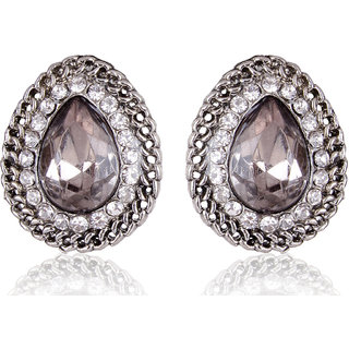 Shining Diva Non Plated Silver Studs For Women-CFJ6985er