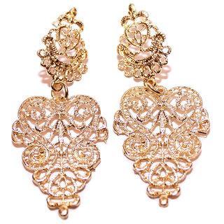 Shining Diva Non Plated Gold Dangle Earrings For Women-CFJ6986er