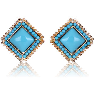 Shining Diva Non Plated Blue Studs For Women-CFJ6989er
