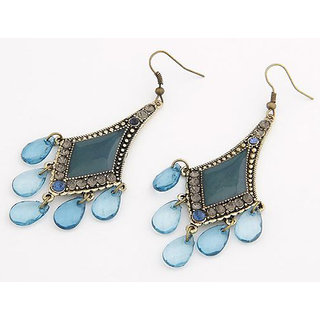 Shining Diva Non Plated Blue Dangle Earrings For Women-CFJ6992er