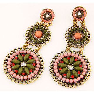 Shining Diva Non Plated Multi Dangle Earrings For Women-CFJ6995er
