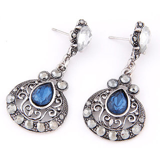 Shining Diva Non Plated Blue Dangle Earrings For Women-CFJ6997er