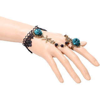 Shining Diva Non Plated Green Charm Bracelets For Women-CFJ6161b