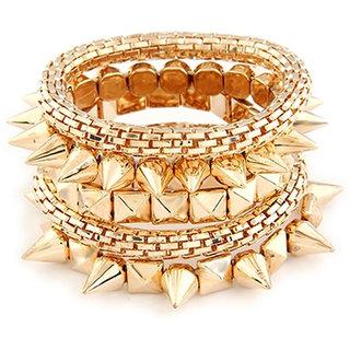 Shining Diva Non Plated Gold Bracelets For Women-CFJ6357b