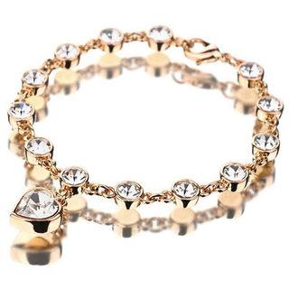 Shining Diva Non Plated Gold Charm Bracelets For Women-CFJ6571b