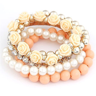 Shining Diva Non Plated Orange Bracelets For Women-CFJ6729b