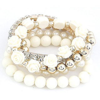 Shining Diva Non Plated White Bracelets For Women-CFJ6730b