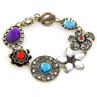 Shining Diva Non Plated Multi Charm Bracelets For Women-CFJ6761b