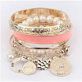 Shining Diva Non Plated Pink Bangles For Women-CFJ6762b