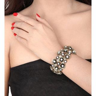 Shining Diva Non Plated White Charm Bracelets For Women-CFJ6866b