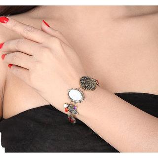 Shining Diva Non Plated Multi Charm Bracelets For Women-CFJ7070b