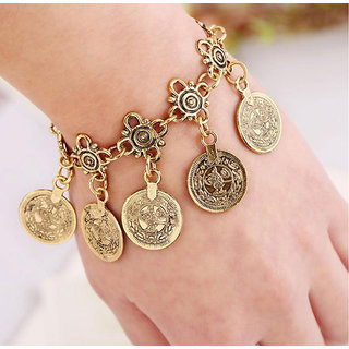 Shining Diva Non Plated Gold Charm Bracelets For Women-CFJ7077b