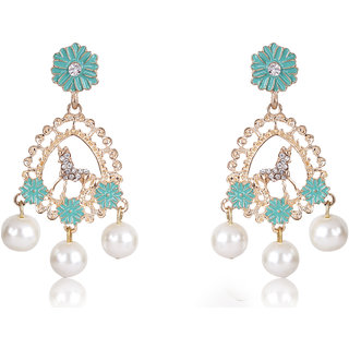 Shining Diva Non Plated Multi Dangle Earrings For Women-CFJ7006er
