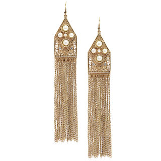 Shining Diva Non Plated White Dangle Earrings For Women-CFJ7008er