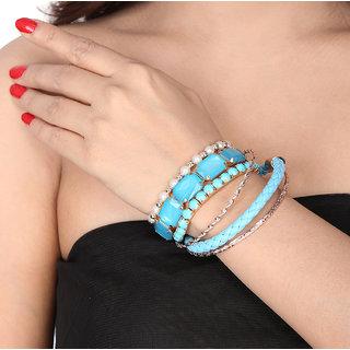Shining Diva Non Plated Blue Bangles For Women-CFJ7178b