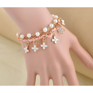 Shining Diva Non Plated Multi Charm Bracelets For Women-CFJ7201b