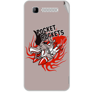 Snooky Digital Print Mobile Skin Sticker For Intex Aqua 3G