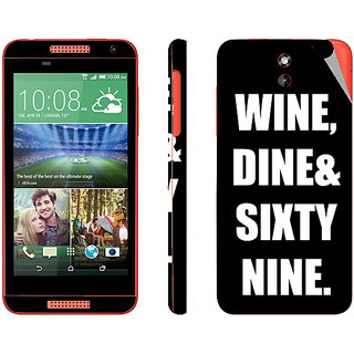 Snooky Digital Print Mobile Skin Sticker For HTC Desire 610