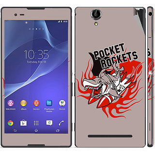 Snooky Digital Print Mobile Skin Sticker For Sony Xperia T2 Ultra