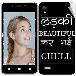 Snooky Digital Print Mobile Skin Sticker For vivo Y11