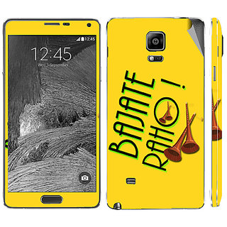 Snooky Digital Print Mobile Skin Sticker For Samsung Galaxy Note 4