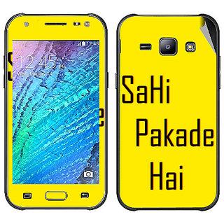 Snooky Digital Print Mobile Skin Sticker For Samsung Galaxy J5