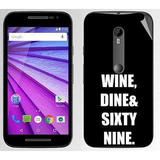 Snooky Digital Print Mobile Skin Sticker For Moto G3
