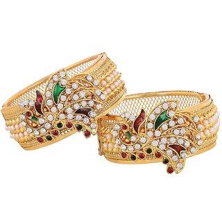 Awww Dancing Peacock American Diamond Bangles Jewellery For Women  Girls