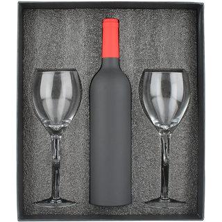 Plush Plaza Multicolour Resin and Glass Veneto Wine Set With Twist Wine Glasses (8 Piece)