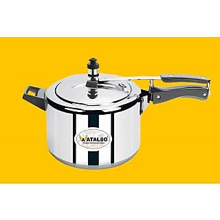 Atalso Aluminium 6 Ltr Inner Lid Induction Base Cooker with 5 Years Warranty