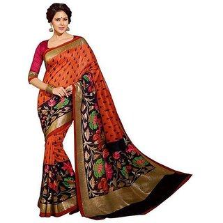 Jai Bharat Designer Saree Multi Color Cotton Saree