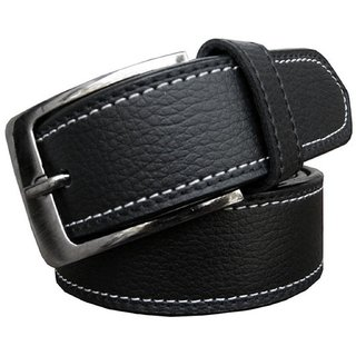 Black formal Artificial Leather Belt at Rmn