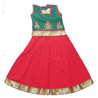 Nakshatra Green & Red Lehenga (NC 14)