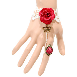 Shining Diva Non Plated Red Charm Bracelets For Women-CFJ6157b