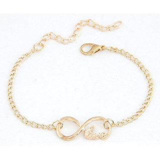 Shining Diva Non Plated Gold Charm Bracelets For Women-CFJ7365b