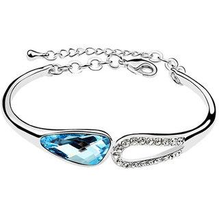 Shining Diva Non Plated Blue Charm Bracelets For Women-CFJ7894b