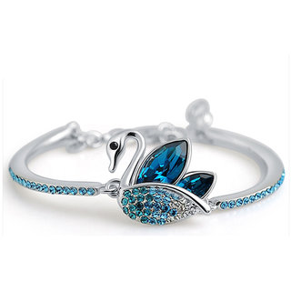 Shining Diva Non Plated Blue Charm Bracelets For Women-CFJ7897b