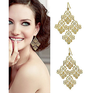 Shining Diva Non Plated Gold Dangle Earrings For Women-CFJ5364er