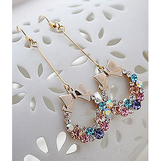 Shining Diva Non Plated Multi Dangle Earrings For Women-CFJ5383er