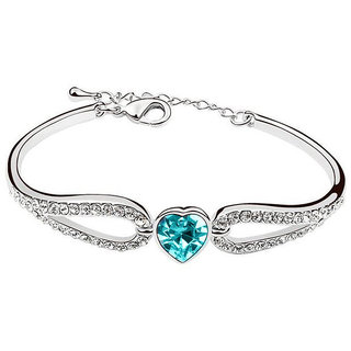 Shining Diva Non Plated Blue Charm Bracelets For Women-CFJ7898b
