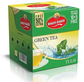 Good Morning Green Tulsi Tea bags 22.5 g Carton Pack(With Envelop)