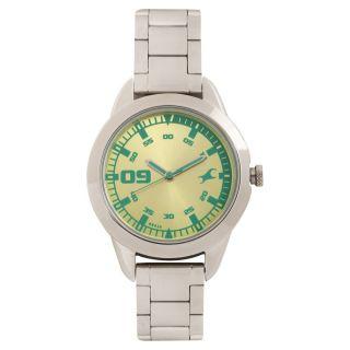 Fastrack Quartz Green Round Women Watch 6129SM02