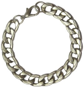 Men Style  Classic Mens Fashion Jewelry Silver 316L Stainless Steel Curb Chunky Chain  Silver  stainless Steel Link Brac