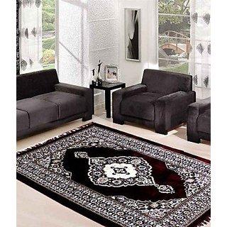 Rama Synthetics Maroon Polyester Carpet (7 x 9 ft )
