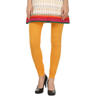Awadh Enterprises Orange Solid Cotton Leggings