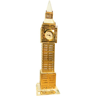 Gold Plated Crystal Big Ben Clock Tower London 22.5cm