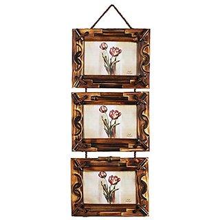 Designer Wooden Brown Collage photo frame